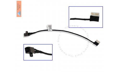 DC Power Jack for Dell Inspiron 15-5000, 5565, 5567, 17-5765 (Rounded Face) and More